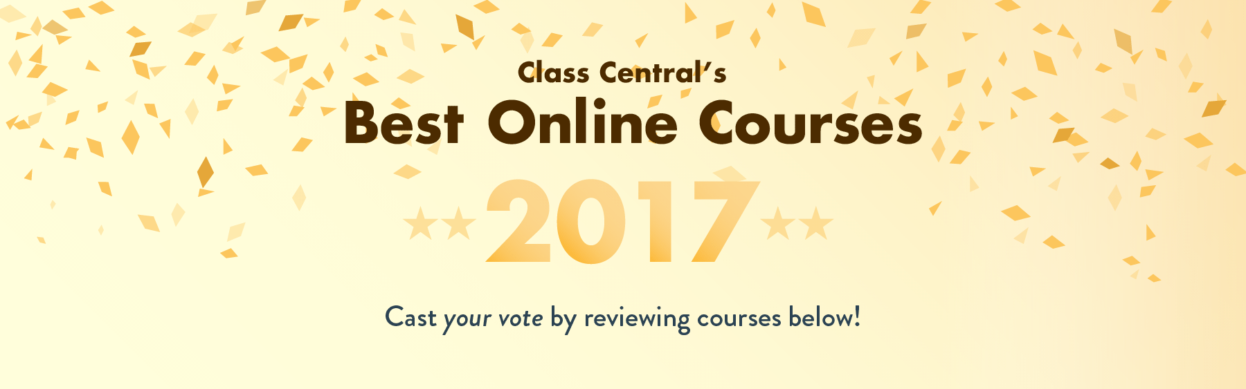 Class Central's Best New Online Courses for 2017 — Cast your vote!